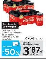 Oferta de Refresco de cola Coca-Cola por 7.75€