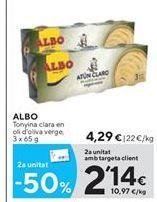 Oferta de Atún claro Albo por 4.29€