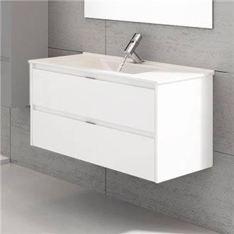 Oferta de Mueble con lavabo Blanco brillo Ibiza TEGLER por 216.83€