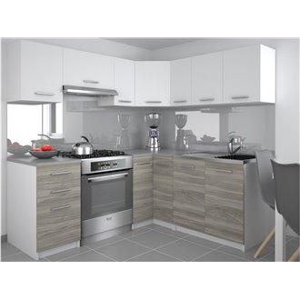 Oferta de Cocina 360cm blanco y gris Lidia Tarraco por 670€