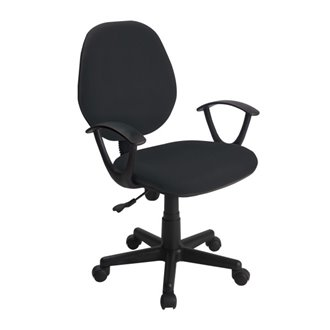 Oferta de Silla escritorio ruedas y reposabrazos negra IberoDepot por 70.04€