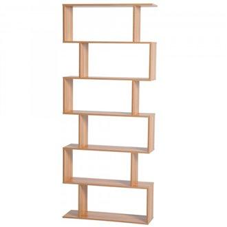 Oferta de Estantería 6 baldas color madera HomCom por 56.84€
