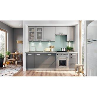 Oferta de Cocina 240cm gris Brix Tarraco por 560€