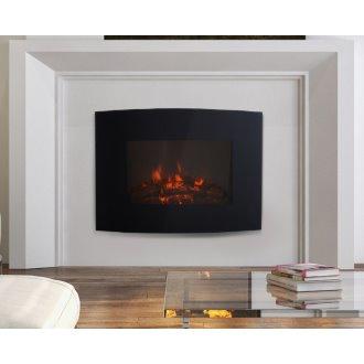 Oferta de Chimenea eléctrica de pared 65x11,4x52cm negra Homcom por 115.8€