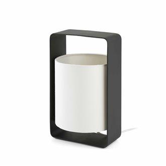 Oferta de Lámpara sobremesa pequeña blanca y negra LULA-P 20W por 80.64€