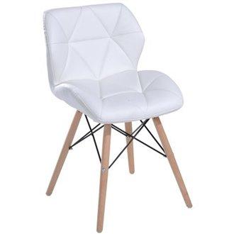 Oferta de Silla ergonómica blanca tapizada y acolchada Homcom por 96.84€