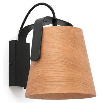 Oferta de Aplique STOOD negro y madera por 91.48€