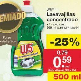 Oferta de Detergente lavavajillas W5 por 0.59€