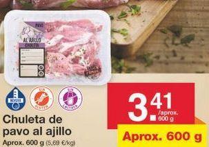 Oferta de Chuletas de pavo por 3.41€