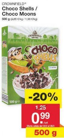 Oferta de Cereales de chocolate Crownfield por 1€