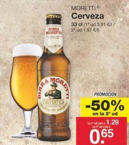 Oferta de Cerveza moretti por 0.97€