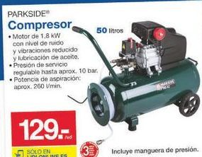 Oferta de Compresor de aire Parkside por 129€