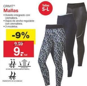 Oferta de Mallas Crivit por 9.09€