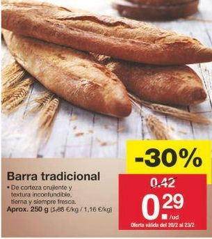 Oferta de Pan por 0.29€