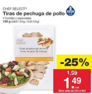 Oferta de Pollo chef select por 1.49€