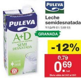 Oferta de Leche semidesnatada Puleva por 0.7€