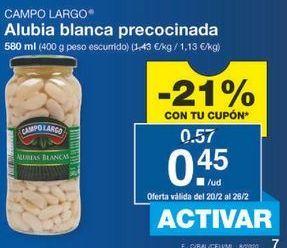Oferta de Alubias Campo Largo por 0.45€