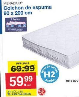Oferta de Colchón de espuma Meradiso por 59.99€