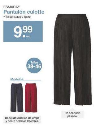 Oferta de Pantalones esmara por 9.99€