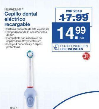Oferta de Cepillo de dientes eléctrico Nevadent por 14.99€