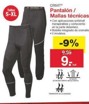 Oferta de Pantalones Crivit por 9.09€
