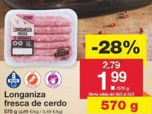 Oferta de Longaniza por 2.01€