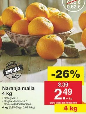 Oferta de Naranjas por 2.51€