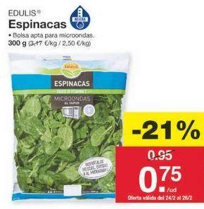 Oferta de Espinacas edulis por 0.75€