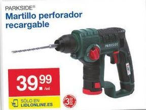 Oferta de Martillo perforador Parkside por 39.99€