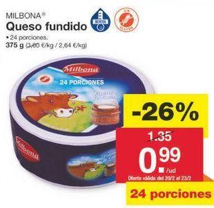 Oferta de Queso en porciones Milbona por 1€