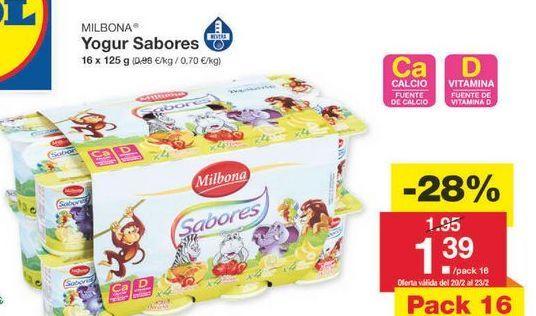 Oferta de Yogur Milbona por 1.4€