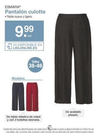 Oferta de Pantalones mujer esmara por 9.99€