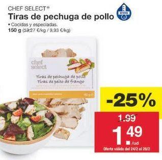 Oferta de Pechuga de pollo chef select por 1.49€
