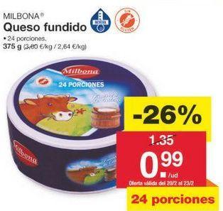 Oferta de Queso fundido Milbona por 1€