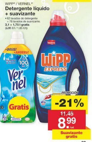 Oferta de Detergente líquido WiPP Express por 9.05€