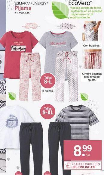 Oferta de Pijama esmara por 8.99€