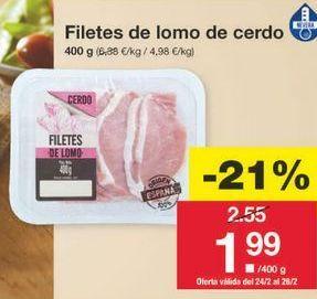Oferta de Lomo de cerdo por 2.01€