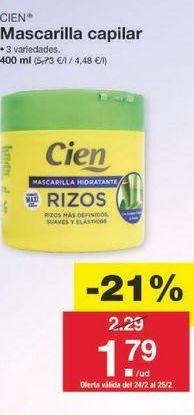 Oferta de Mascarilla Cien por 1.81€