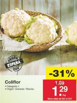 Oferta de Coliflor por 1.3€