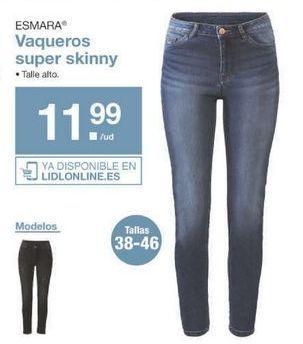Oferta de Vaqueros mujer esmara por 11.99€