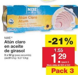 Oferta de Atún claro nixe por 1.3€