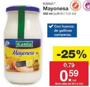 Oferta de Mayonesa Kania por 0.59€