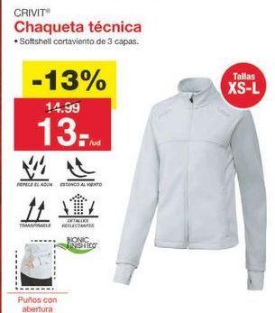 Oferta de Chaqueta Crivit por 13.04€