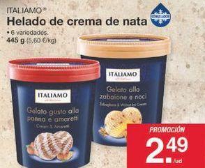 Oferta de Tarrina de helado Italiamo por 2.49€