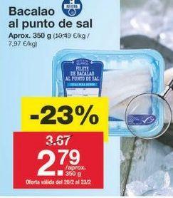 Oferta de Bacalao por 2.68€