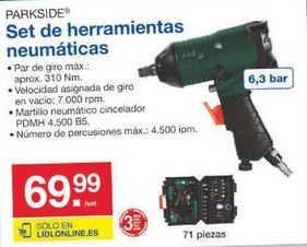 Oferta de Herramientas Parkside por 69.99€