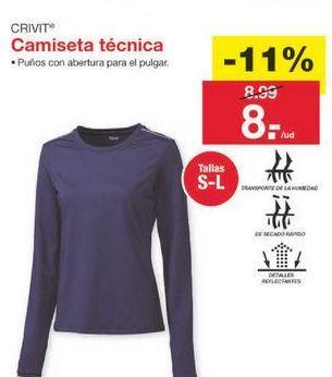 Oferta de Camiseta manga larga Crivit por 8€