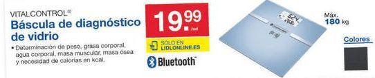 Oferta de Báscula de baño vitacontrol por 19.99€
