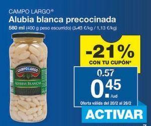 Oferta de Alubias blancas Campo Largo por 0.45€