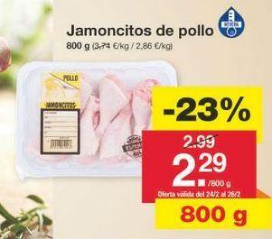 Oferta de Jamoncitos de pollo por 2.3€